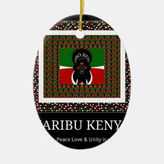 Karibu Kenya Hakuna Matata Ceramic Ornament