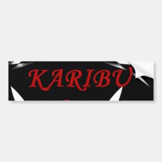 kARIBU welcome Car Bumper Sticker