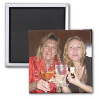 Karie&Grams at Ruth's CHris 2 Inch Square Magnet
