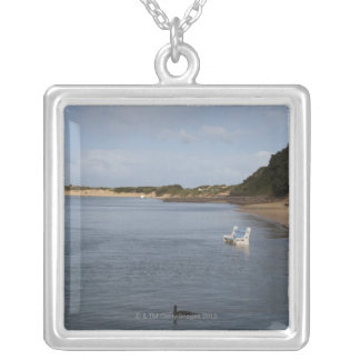 Kariega River, Eastern Cape Province, South Square Pendant Necklace