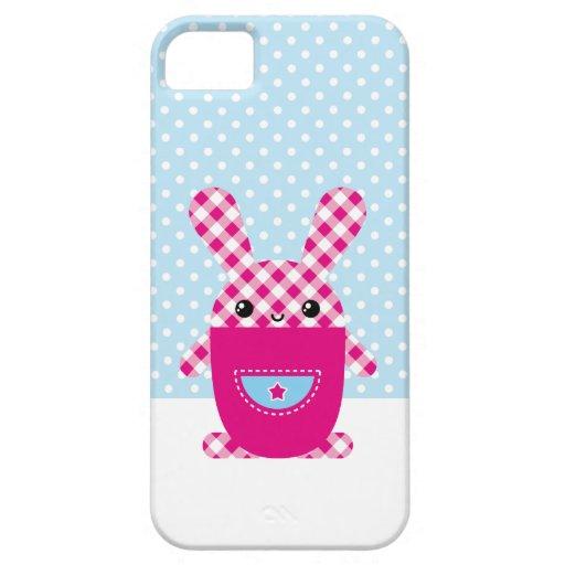 Kariertes Kaninchen de Kawaii Funda Para iPhone SE/5/5s