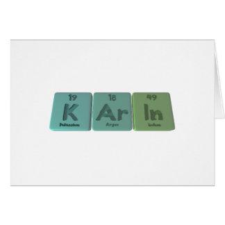 Karin as Potassium Argon Indium Greeting Card
