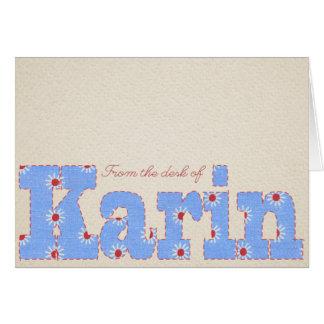 KARIN CARD