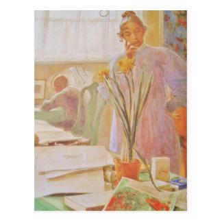 Karin in the Studio Postcard