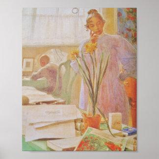 Karin in the Studio Poster