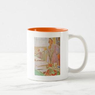 Karin in the Studio Two-Tone Coffee Mug