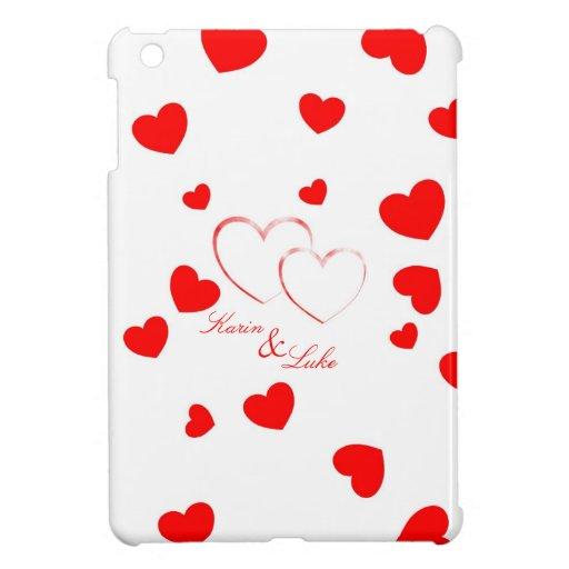 Karin & Luke - Cute Hearts with Names - iPad Mini Case