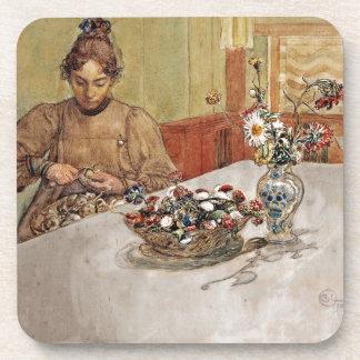 Karin Peeling Apples - Skalande Applen Drink Coaster