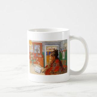 Karin Reading in the Evening Coffee Mug