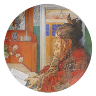Karin Reading Dinner Plate