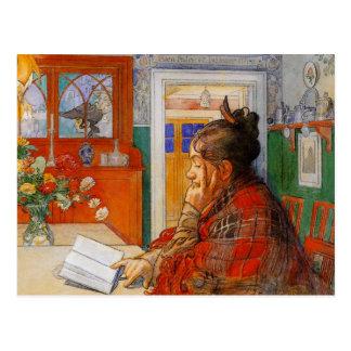 Karin Reading Postcard
