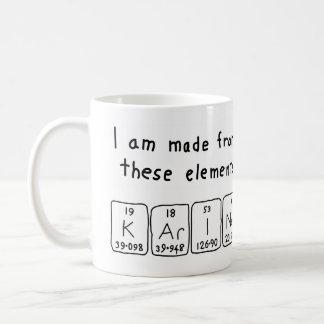 Karine periodic table name mug