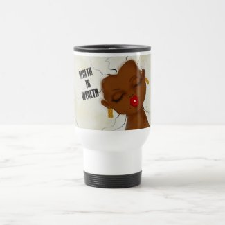 karinsArt- HEALTH is WEALTH Travel Mug