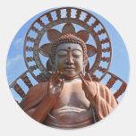 Kariyado Obotoke - gran imagen de Buda Pegatina Redonda