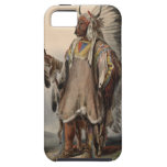 Karl Bodmer - A Mandan chief iPhone 5 Cases