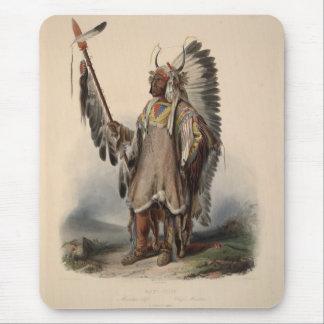 Karl Bodmer - A Mandan chief Mouse Pad