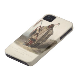 Karl Bodmer- A Minatarre or Big bellied indian iPhone 4 Case-Mate Cases