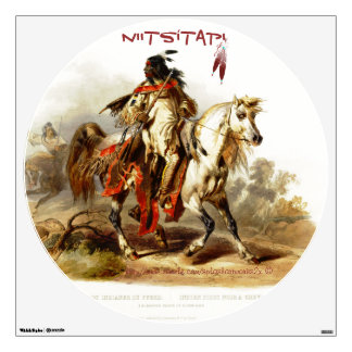 """Karl Bodmer-Blackfoot"" Wall Decal"