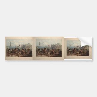 Karl Bodmer- Buffalo-Dance of the Mandan Indians Bumper Sticker