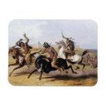 Karl Bodmer - carrera de caballos de los Siux Iman