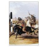 Karl Bodmer - carrera de caballos de los Siux Pizarras Blancas De Calidad