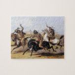 Karl Bodmer - carrera de caballos de los Siux Puzzles Con Fotos