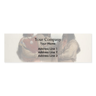 Karl Bodmer- Chief of the Blood Indians Double-Sided Mini Business Cards (Pack Of 20)