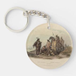 Karl Bodmer- Crow Indians Acrylic Keychain