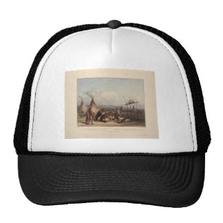 Karl Bodmer- Funeral Scaffold of a Sioux Chief Trucker Hat