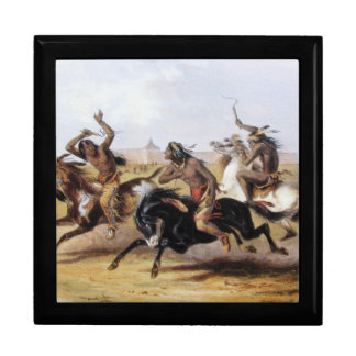 Karl Bodmer - Horse Racing of the Sioux Keepsake Boxes