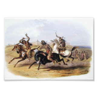 Karl Bodmer - Horse Racing of the Sioux Art Photo