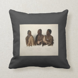 Karl Bodmer- Indians and the Chief of the Puncas Throw Pillow