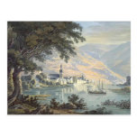 Karl Bodmer- la ciudad Zell en el río de Mosela Postal