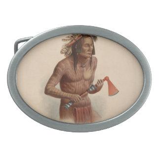 Karl Bodmer- Mato-Tope adornado con insignias Hebilla De Cinturon
