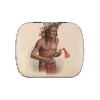 Karl Bodmer- Mato-Tope adornado con insignias Latas De Caramelos