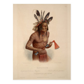 Karl Bodmer- Mato-Tope, Adorned with Insignia Postcard