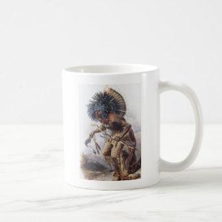 Karl Bodmer - Moennitarri Warrior doing Dog Dance  Coffee Mug