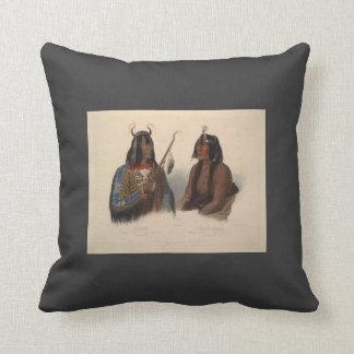 Karl Bodmer-Noapeh,Assiniboin Indian,Psihdja-Sahpa Pillows