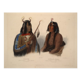 Karl Bodmer-Noapeh,Assiniboin Indian,Psihdja-Sahpa Postcard