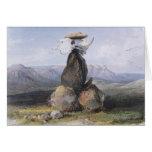 Karl Bodmer - pila mágica de indios de Assinboin Tarjeta