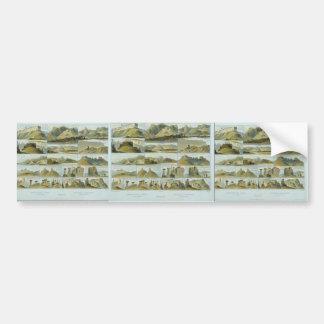 Karl Bodmer-Remarkable Hills on the Upper Missouri Bumper Stickers