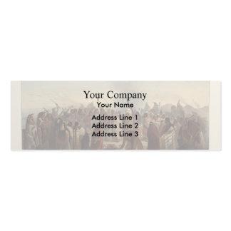 Karl Bodmer- Scalp dance of the Minatarres Business Card