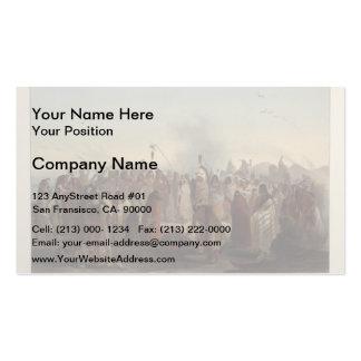 Karl Bodmer- Scalp dance of the Minatarres Business Card Templates