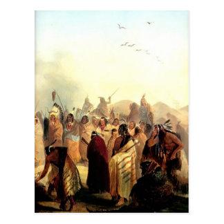 Karl Bodmer- Scalp Dance of the Minatarres Postcard