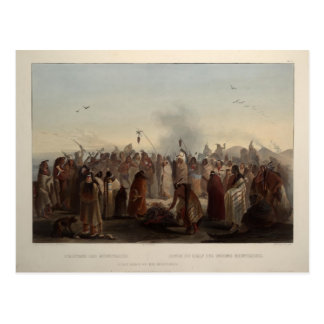 Karl Bodmer- Scalp dance of the Minatarres Postcards