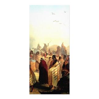 Karl Bodmer- Scalp Dance of the Minatarres Rack Card Design