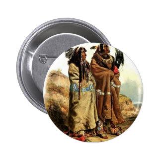 Karl Bodmer-SihChida&MahchsiKarehde,Mandan Indians Pins