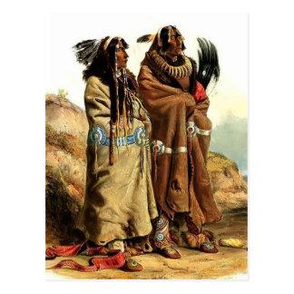 Karl Bodmer-SihChida&MahchsiKarehde,Mandan Indians Postcards