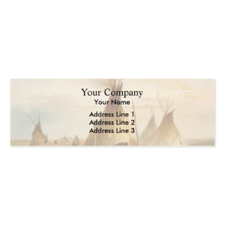 Karl Bodmer- Sioux teepee Business Card Template