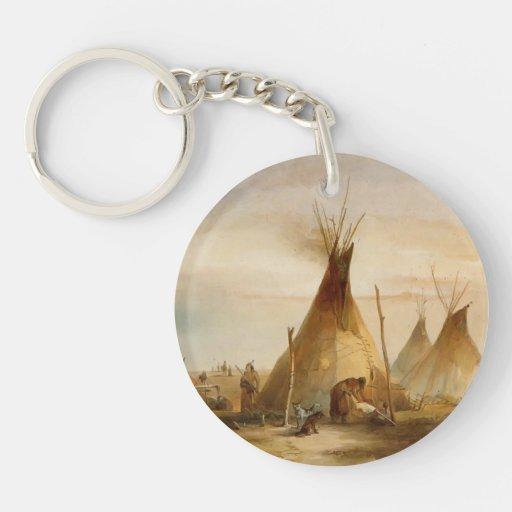 Karl Bodmer- Sioux teepee Acrylic Keychains
